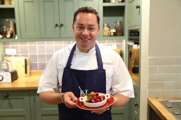 Top Chef Neven Maguire whips up his dishy Lemon Posset with Passion Fruit and Macerated Berries