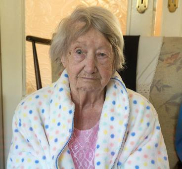 Rosanna O'Halloran, 102 year old lady from Castle Close in Clondalkin who spent 26 hours on a trolly in Tallaght Hospital
