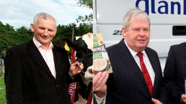 Candidates: Henry Corbally (left) and Martin Keane
