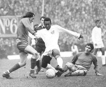 1972: Soccer legend Pele played in the Phibsborough stadium as his team Santos took on a League of Ireland selection