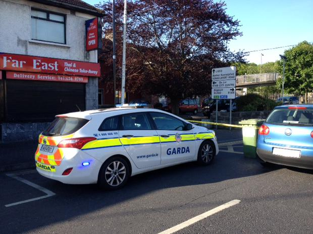 The scene at Kennelsfort Road Lower in Palmerstown this morning