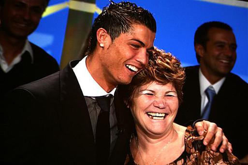 Real Madrid star Ronaldo pictured with his mother Dolores Aveiro