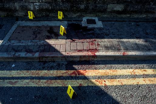 Tuesday 09 June 2015. Kennelsfort Road Lower, Palmerston. Scene of assault.