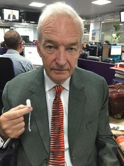Channel 4's Jon Snow pledges his support to the 'Just A Tampon' campaign