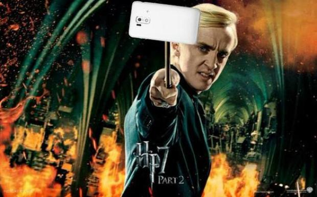 Harry Potter selfie photo shop by @Kawori