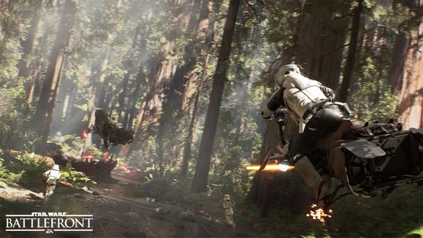 Speeder chases are go - Star Wars Battlefront