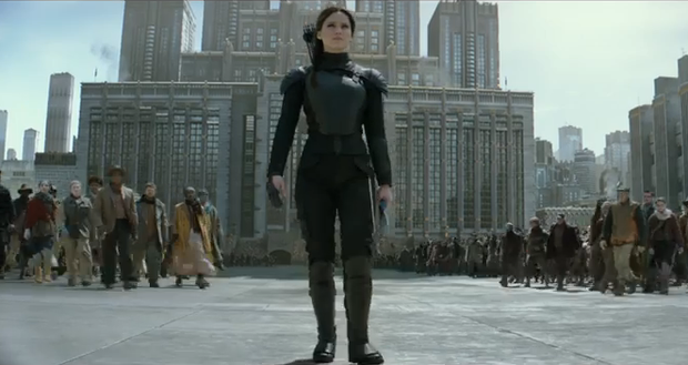 Screenshot from the Hunger Games - Mockingjay Part 2 trailer
