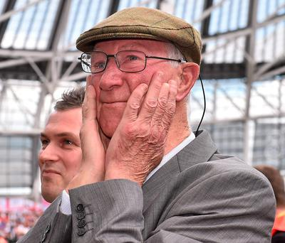 Jack Charlton's introduction was the highlight of a tedious friendly on Sunday