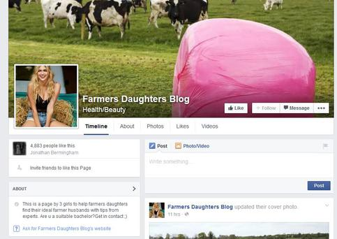The Facebook page 'Farmers Daughters Blog' amassed 4,000 followers within their first three days