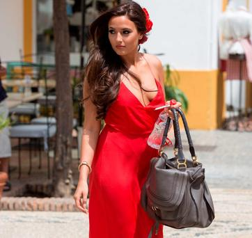 Nadia Forde at Peter Stringer's wedding. Picture: Solar Pix