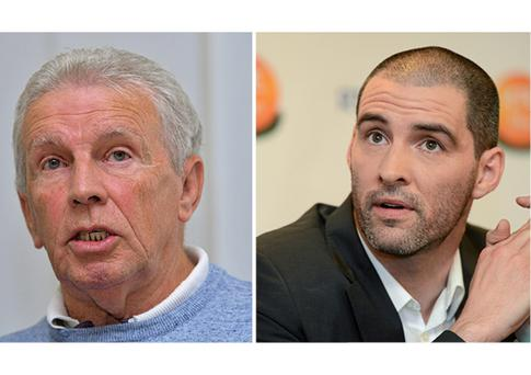 John Giles and (right) Richie Sadlier