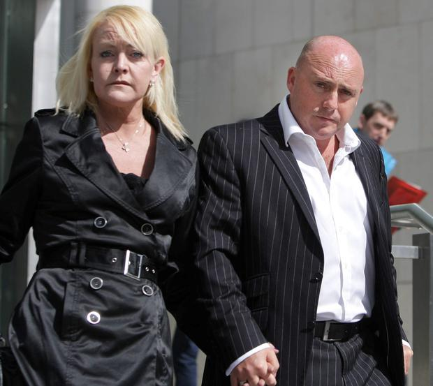 David Mahon with his wife Audrey Mahon leaving the Central Criminal Court