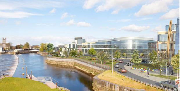 An artist's impression of the proposed Arthur's Quay retail development which is part of the Limerick regeneration plan.