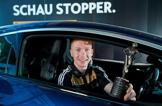 Limerick's Cian Lynch was presented with the Opel Player of the Month award for May yesterday