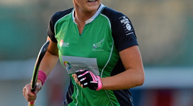Nikki Evans' hat-trick got Ireland off to a dream start in Valencia yesterday