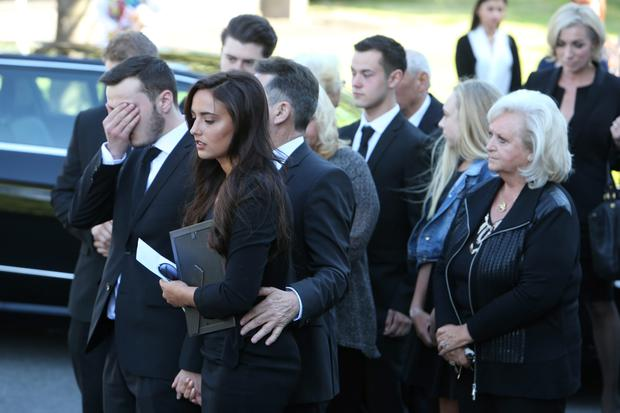 The funeral of Bernice Paolozzi - Nadia Forde's mum - at St Gabriel's Church, Clontarf on 11/6/2015.