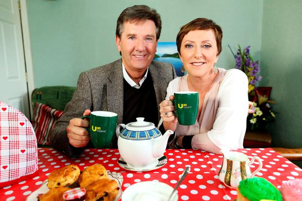 """Pictured are Daniel and Majella O'Donnell at Willow House B&B, Drumcondra, Dublin 9. UTV Ireland today announced that filming is set to begin on a brand new travel show starring Daniel O'Donnell and his wife Majella. The new six-part series called 'Daniel and Majella's B&B Road Trip' is a reality travel show with a difference. The popular couple will take to the road visiting areas of natural beauty and taking in all that Ireland has to offer, while staying only in B&B accommodation throughout their trip. Filming will commence in early July and the show will air on UTV Ireland later this year PIC: NO FEE, MAXWELLS. UTV Ireland announces Daniel and Majella's B&B Road Trip UTV Ireland today announced that filming is set to begin on a brand new travel show starring Daniel and Majella O'Donnell. The new six-part series called 'Daniel and Majella's B&B Road Trip' is a reality travel show with a difference. The popular couple will take to the road visiting areas of natural beauty and taking in all that Ireland has to offer, while staying only in B&B accommodation throughout their trip. Their B&B hosts will act as tour guides, showing them around the area and, as well as sharing stories across the dinner and breakfast table, local performers and characters will make cameo appearances for evenings of 'craic agus ceoil' with entertainment from Daniel and other local performers. Speaking about the launch of the new series, Mary Curtis, UTV Ireland's Head of Channel, said: """"Daniel and Majella are hugely popular with Irish audiences and they are a fantastic couple who complement each other perfectly. Throughout the show, we will get to know them better as a couple, whilst seeing them as we have never seen them before. Their warm and fun personalities make them ideal hosts for this series. We are delighted to be welcoming Daniel and Majella to the UTV Ireland schedule and I think this series will resonate w"""