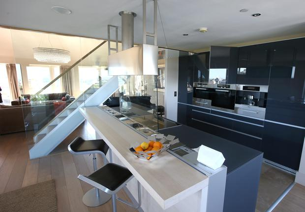 The three-bed penthouse, Wyckham Point, Dundrum