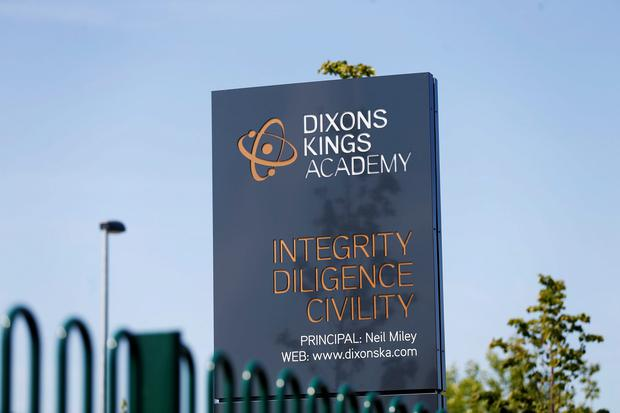 A sign outside Dixons Kings Academy in Bradford Credit: Lynne Cameron/PA Wire