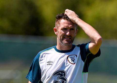 Republic of Ireland's Robbie Keane during squad training. Republic of Ireland Squad Training, Gannon Park, Malahide, Co. Dublin. Picture credit: David Maher / SPORTSFILE