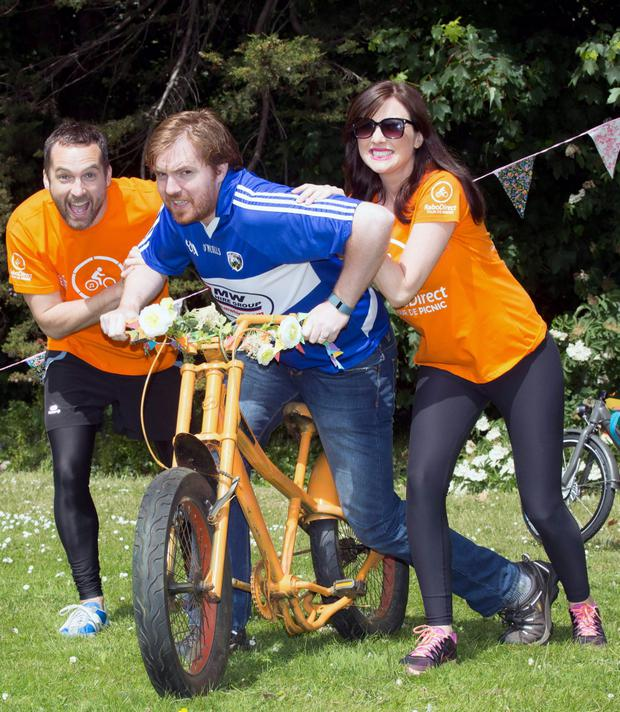 Jennifer Maguire, Keith Walsh and Bernard O'Shea at the lunach of this year's Tour de Picnic Credit: Paul Sharp