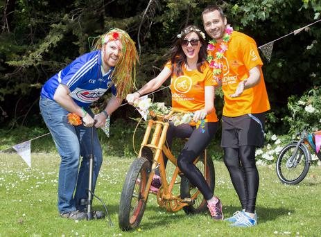 Bernard O'Shea, Jennifer Maguire, and Keith Walsh at the launch of this year's Tour de Picnic Credit: Paul Sharp