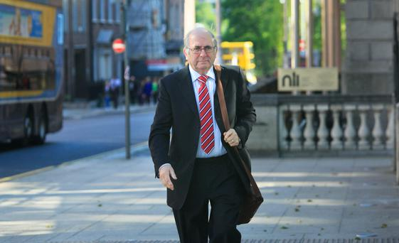 Liam O' Reilly former CEO Irish Financial Services Regulatory Authority arrives a the Oireachtas Banking Inquiry at Leinster House, Dublin. Photo: gareth chaney Collins