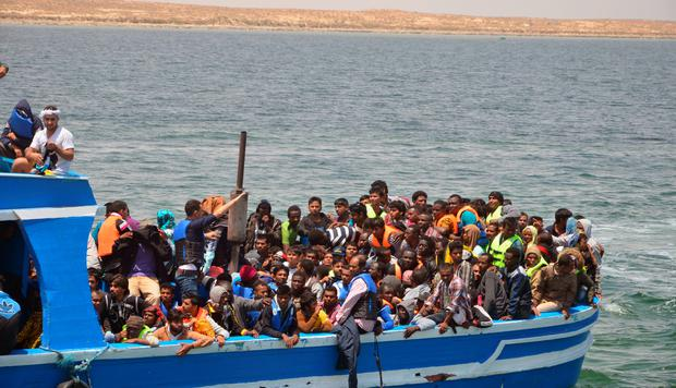 Tunisia's navy rescued more than 350 illegal migrants off its coast and was searching for hundreds more after they tried to sail from Libya to the Italian island of Lampedusa, the local Red Cross said. Photo: Reuters