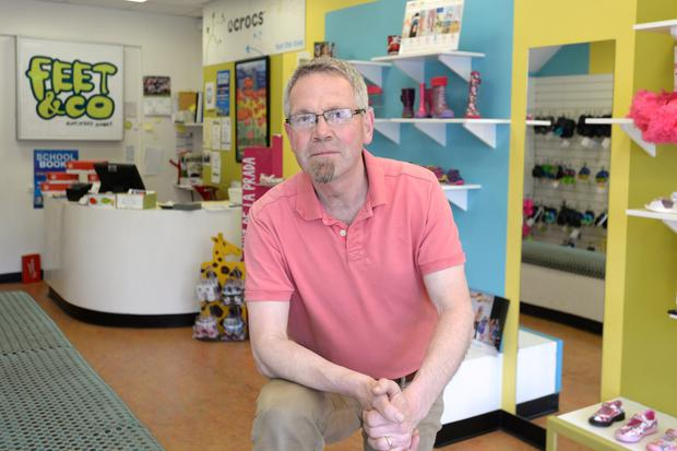 Noel Cocoman owner of Feet and Co. shoe shop in Drumcondra Dublin. Pic: Justin Farrelly.
