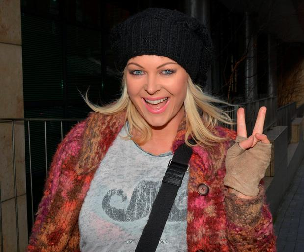 Amanda Brunker at Today FM promoting her new TV3 reality show 'Danger! Amanda At Work'