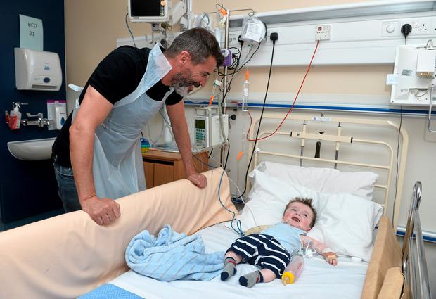 Republic of Ireland manager Martin ONeill make a very special visit to Temple Street Childrens University Hospital Picture credit: David Maher / SPORTSFILE