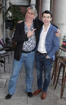 Colm Hayes and Al Porter at The Vodafone Comedy Festival 2015 launch at The Odeon