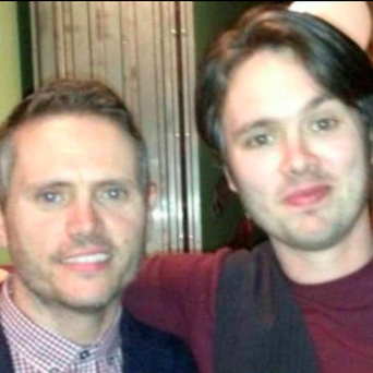 Alan Harris (45) and his younger brother Steve (32) in an image posted by their cousin, Irish footballer Robbie Keane, to his Facebook
