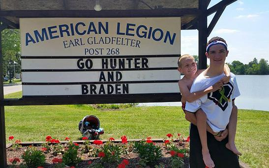 Hunter and his brother Braden