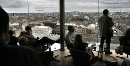 The views of Dublin from the Gravity Bar in the Guinness Storehouse