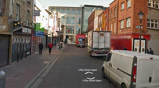 Liffey Street in Dublin city centre, close to where the incident allegedly occurred