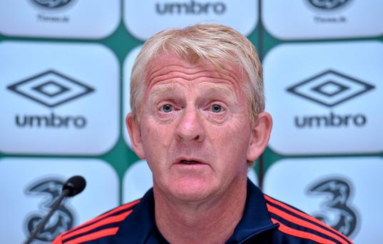 Scotland manager Gordon Strachan during a press conference. Scotland Press Conference, Aviva Stadium, Lansdowne Road, Dublin. Picture credit: Matt Browne / SPORTSFILE