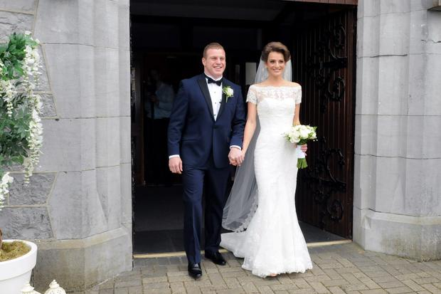 12/6/2015 Sean Cronin and Claire Mulcahy who today married at St. Josephs Catholic Church, Castleconnell, Co. Limerick. Pic: Gareth Williams / Press 22