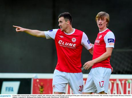 Aaron Greene, St Patrick's Athletic, left