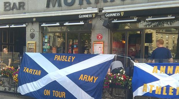 Scottish fans have been making themselves feel right at home