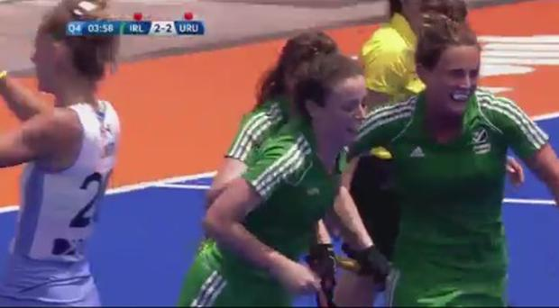 Aine Connery celebrates her decisive goal