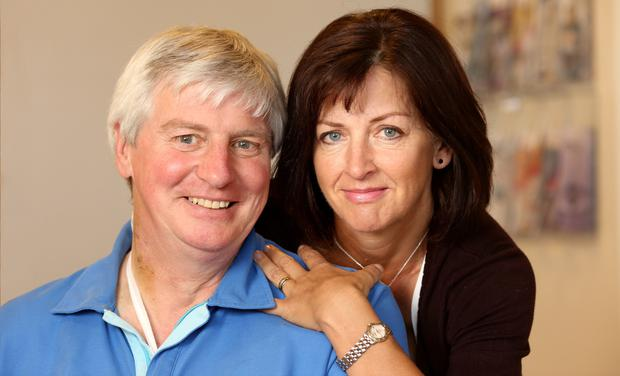 Michael Lyster and his wife Anne pictured in St Vincents Hospital Dublin. Picture; GERRY MOONEY. 13/6/15
