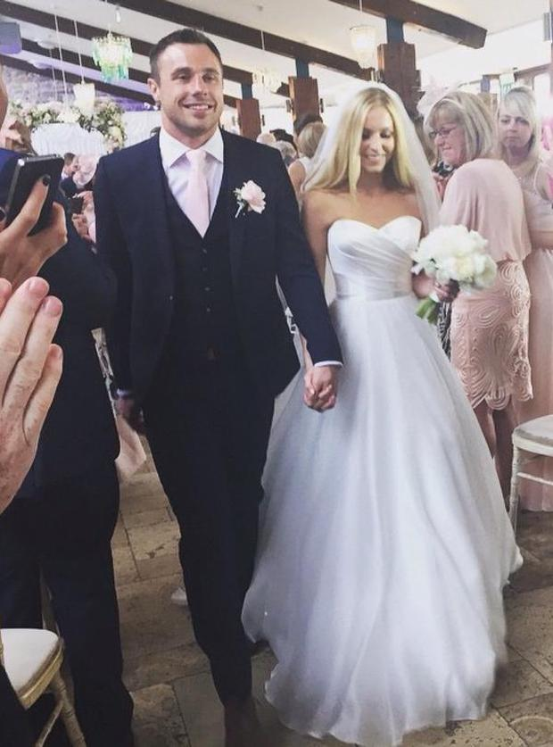 'I Do' - Tommy and Lucy are now man and wife. Picture: Twitter @RavenhillRoar