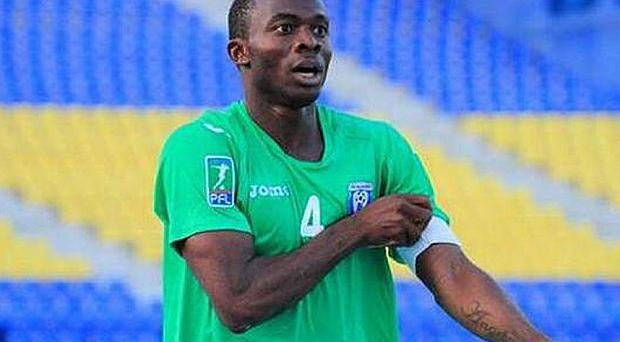Nigerian defender David Oniya died in hospital after collapsing on pitch Photo: GETTY IMAGES