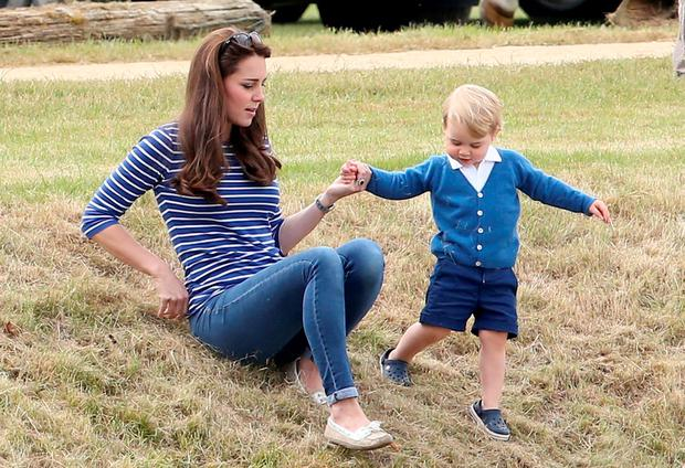 Catherine Duchess of Cambridge and Prince George attend the Gigaset Charity Polo Match with Prince George of Cambridge at Beaufort Polo Club on June 14, 2015 in Tetbury, England. (Photo by Chris Jackson/Getty Images)