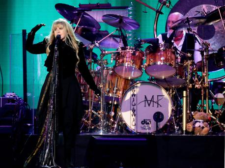 Singer Stevie Nicks from Fleetwood Mac performs on the Main Stage at the Isle of Wight Festival, in Seaclose Park, Newport, Isle of Wight. PRESS ASSOCIATION Photo. Picture date: Sunday June 14, 2015. Photo credit should read: Yui Mok/PA Wire