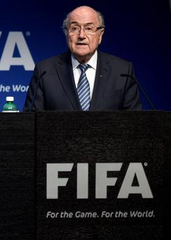 It was reported that Sepp Blatter is considering trying to retain the FIFA presidency