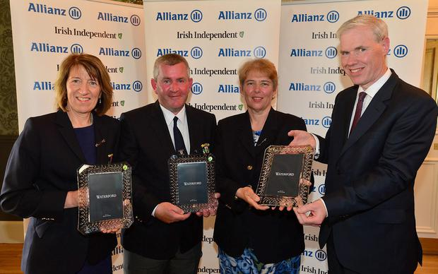 Winners: Letterkenny's Margo Birmingham, Gerard Duffy and Anne Condon with Peter Kilcullen, Allianz sales director