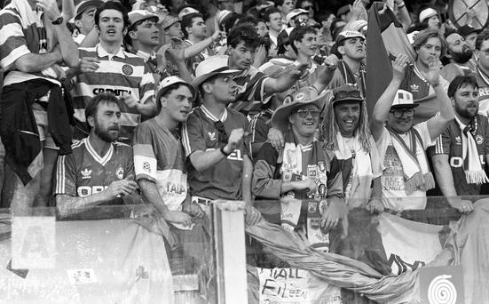 Irish fans at the World Cup in Italia '90