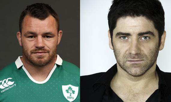 Cian Healy and Brian Kennedy